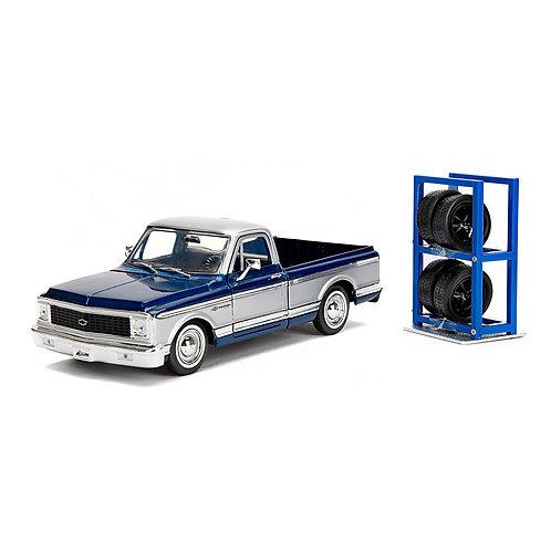 1972 Chevy Cheyenne w/ Extra Wheels (Chevrolet Trucks 100th Anniversary)