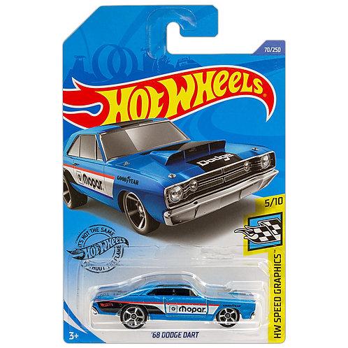 HW SPEED GRAPHICS - '68 Dodge Dart (azul)