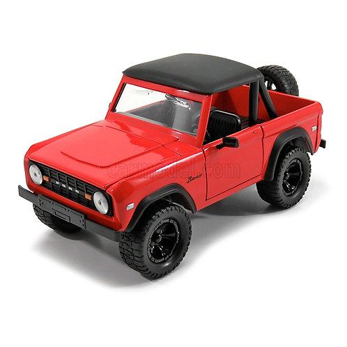 1973 Ford Bronco w/ Extra Wheels (rojo)