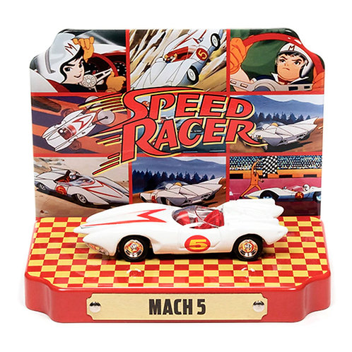 Speed Racer - Speed Racer Mach 5 con exhibidor metálico