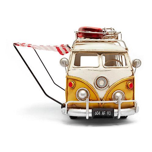 VW Combi con Toldo (rosado) (Artesanía de metal)