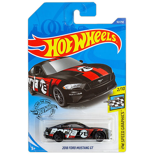 HW SPEED GRAPHICS - 2018 Ford Mustang GT (negro)