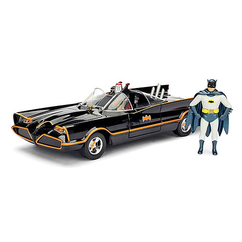 Classic TV Series Batmobile w/ Batman and Robin (Diecast Assembly Model Kit)