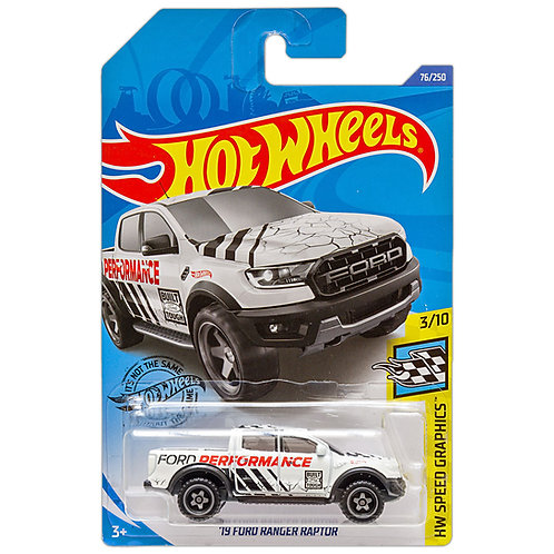 HW SPEED GRAPHICS - '19 Ford Ranger Raptor (blanco)