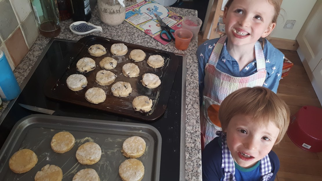 TIlly and Henry baking