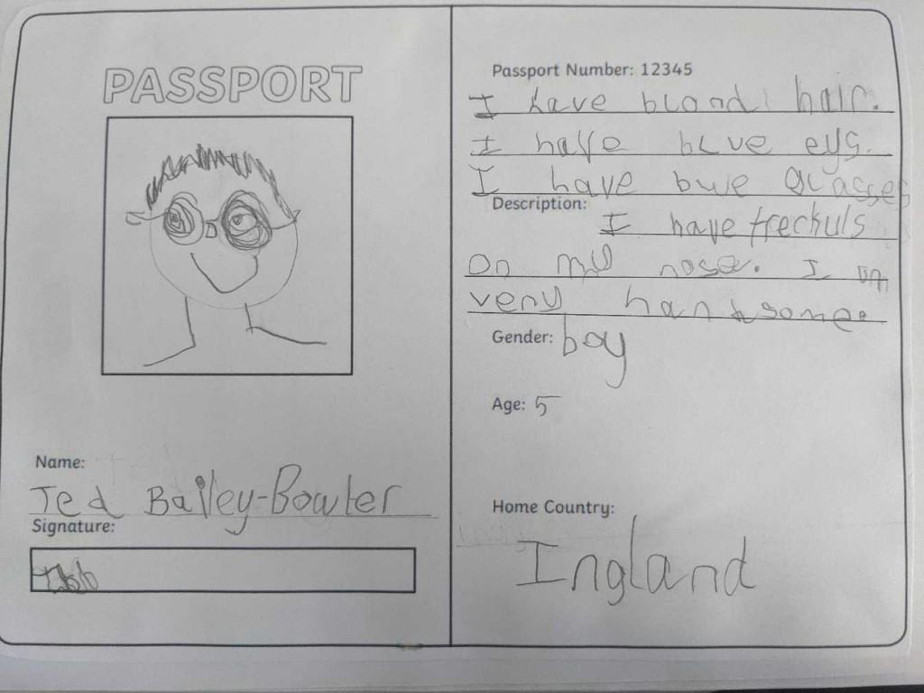 Ted's passport