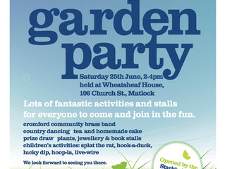 Garden Party Invitation - Saturday 25th June 2pm