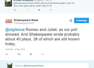 Year 6 Pupils at St Giles School took part in Shakespeare week