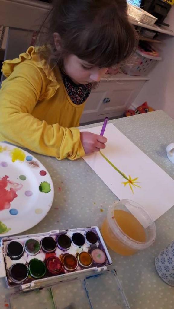 Isla's watercolour painting
