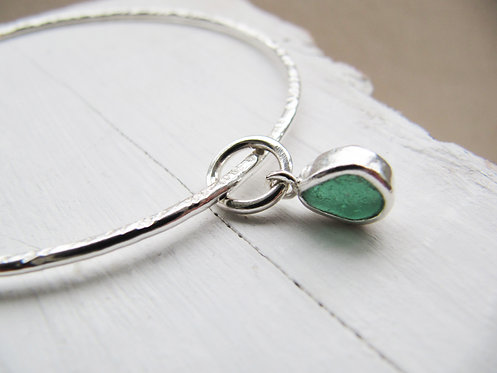 Eco Sea Glass Bangle M