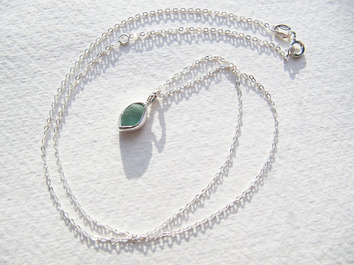 Delicate Mermaid's Tear Necklace