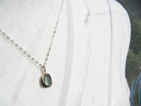 Dainty Gold & Silver Aqua Necklace