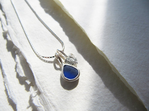 Barafundle Heart Charm Necklace
