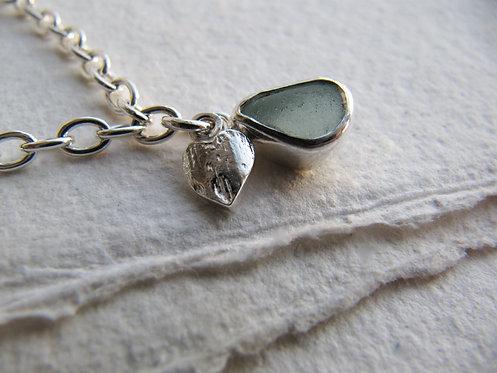 Aqua Barafundle Heart bracelet