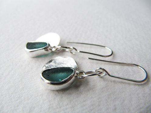 Soulmate Sea Glass Earrings - Rare
