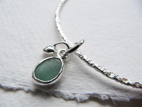 Eco Sea Glass Bangle L