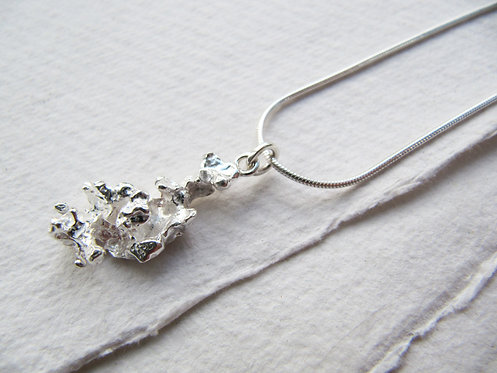 Recycled Silver Sea Salt Necklace