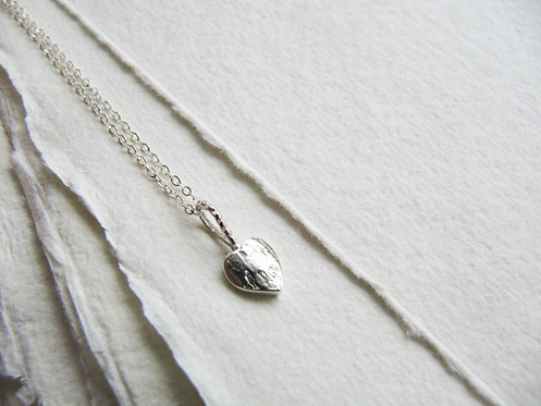 Tiny Barafundle Heart Necklace