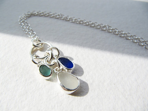 Mermaid's Tear Cluster Necklace