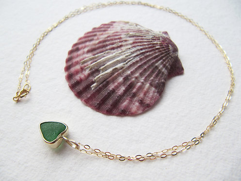 Recycled Gold Heart Necklace