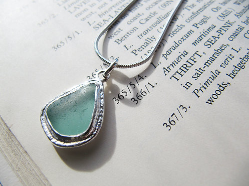 Long Rustic Sea Glass Necklace