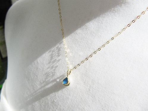 Tiny Gold & Silver Blue Necklace