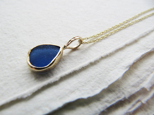Recycled Gold Rare Mermaid's Tear Necklace