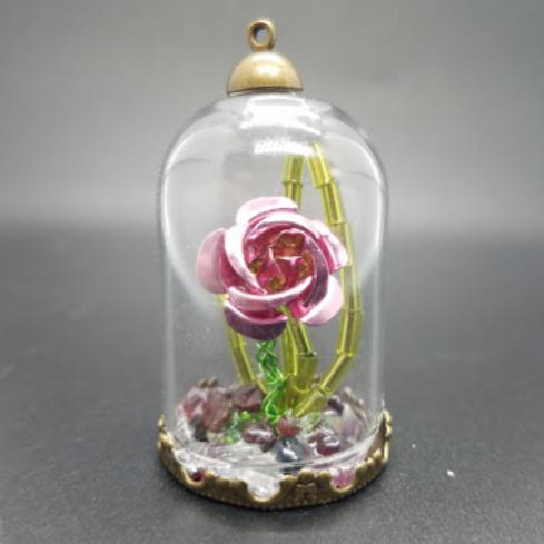 Purple Rose in Glass Jar