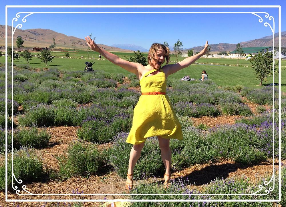 Krista Vineyard enjoys a Young Living lavender farm