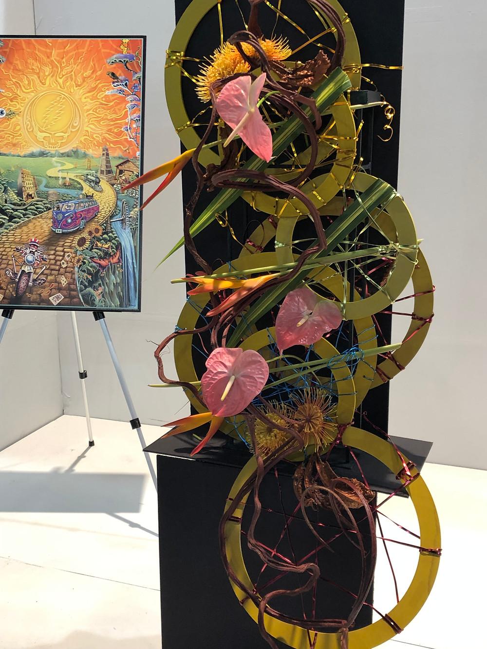 First prize floral arrangement interpretting Album Cover Art