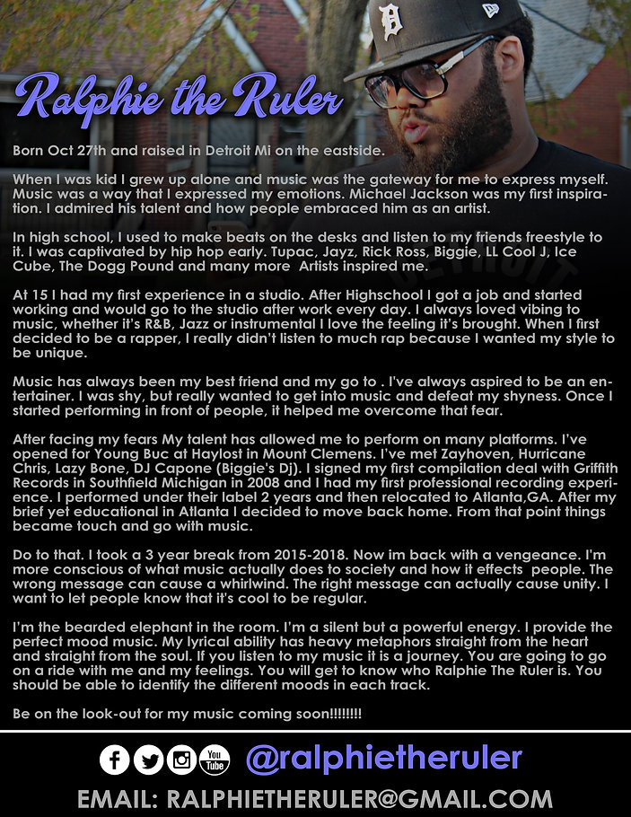 RALPHIE THE VIDEO BIO