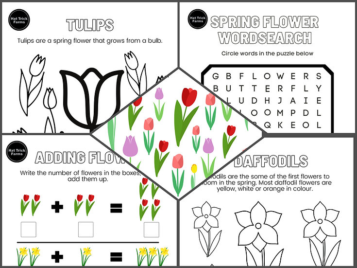 Kids Spring Flowers Activity eBook