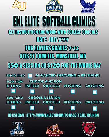 ENL Elite Softball Clinics, Energy No Limit