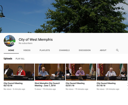 City of West Memphis YouTube Channel