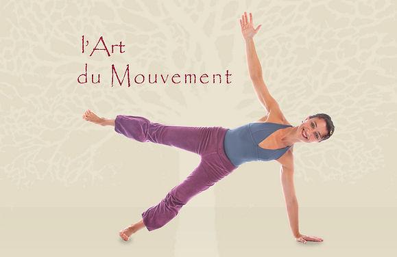 Exercice Pilates d'equilibre sur une maine