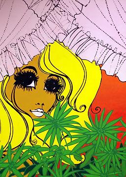 Daisy pop art. Acrylic on canvas