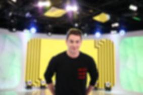 Erik Zachary on Set at TRL