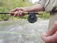 stringing a line, rod and reel club