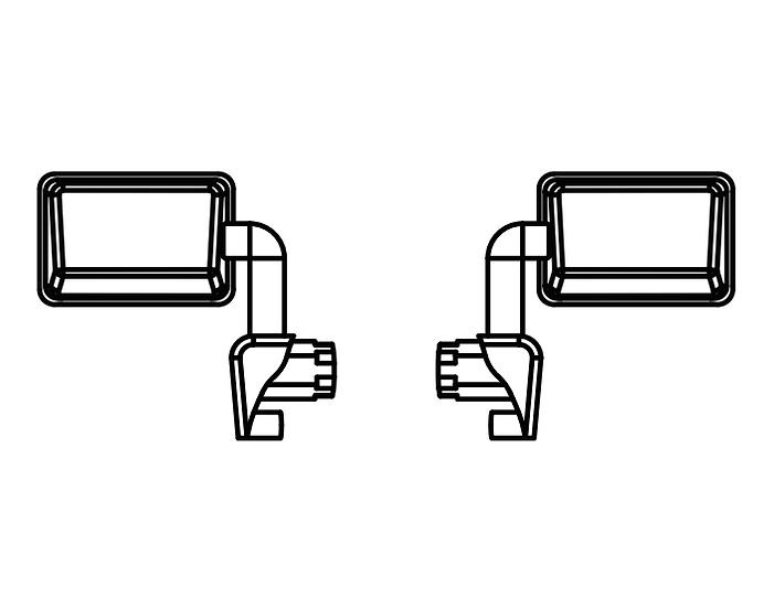 Rearview Mirrors pr (L & R)