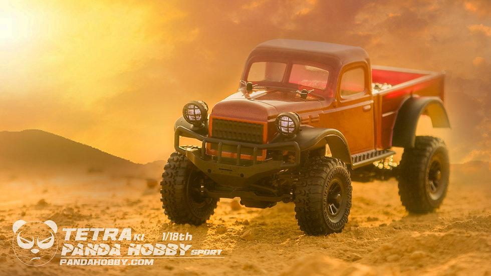 Sport Tetra K1 1/18 Scale Crawler RTR 4WD Off-road Vehicle, Maroon