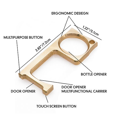 No Touch Key/Bottle Opener X4 (one free retractable carabiner)