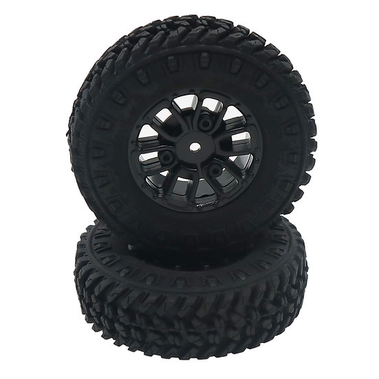 Tires and Wheels, Mounted and Glued (2pcs)