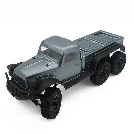 1/18 Tetra18 K1 6X6  RTR Scale Mini Crawler, Gunmetal Grey