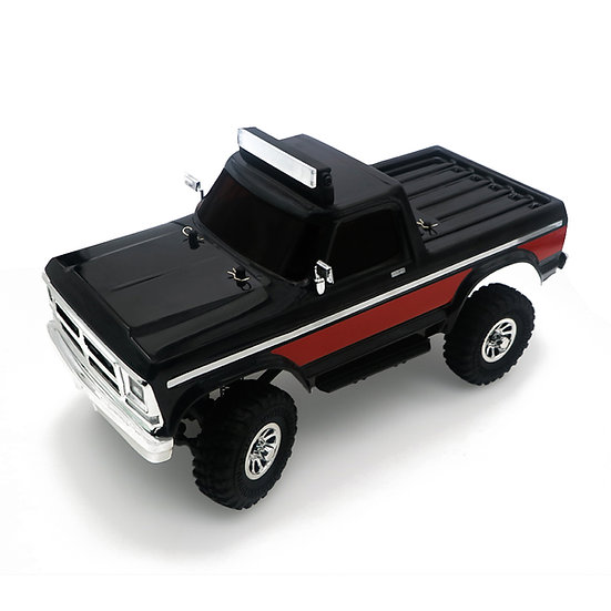 Tetra X2T 1/18 Scale Crawler RTR 4WD Off-road Vehicle, Black/Red