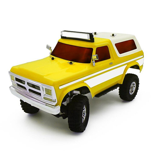 Tetra X2 1/18 Scale Crawler RTR 4WD Off-road Vehicle, Yellow/White