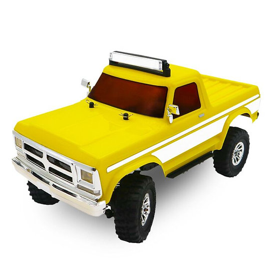 Tetra X2T 1/18 Scale Crawler RTR 4WD Off-road Vehicle, Yellow/White