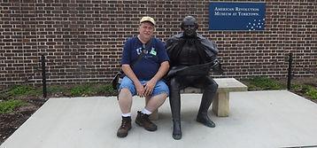Gary Rivett with George Washingon in Yorktown, VA