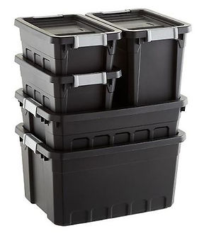 Sterilite Black Stacker Totes
