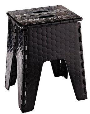 "B&R Plastics 153-6BK E-Z Foldz Black 15"" Neat Seat Step Stool/Seat"