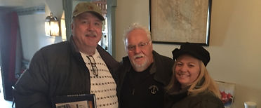 Gary and Chris Rivett with Chef Walter Staib of City Tavern in Philadelphia, PA